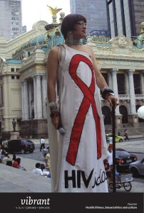 Vibrant v. 12, n. 1. Lorna Washington, World AIDS Day, Rio/2010, photo Márcio Villard (Grupo pela Vidda)